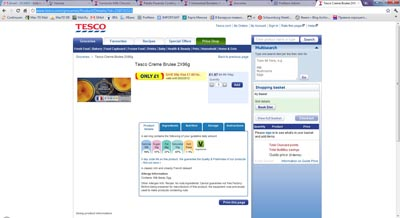 Tesco online pricing Profitero screenshot